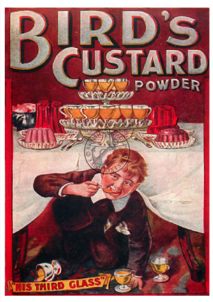 Birds Custard Advert Poster